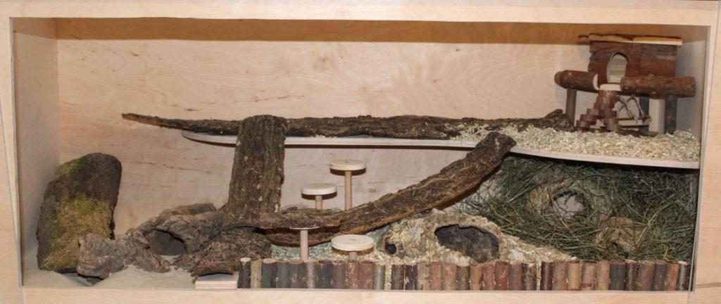 Halbe Etage im Hamsterkäfig