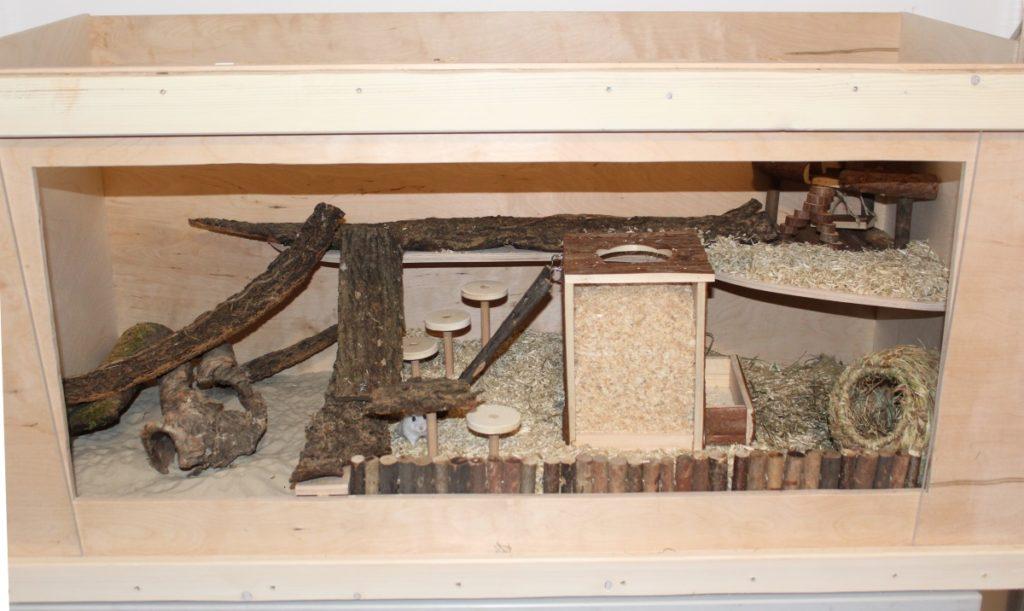 Holz Hamsterkäfig aus Eigenbau