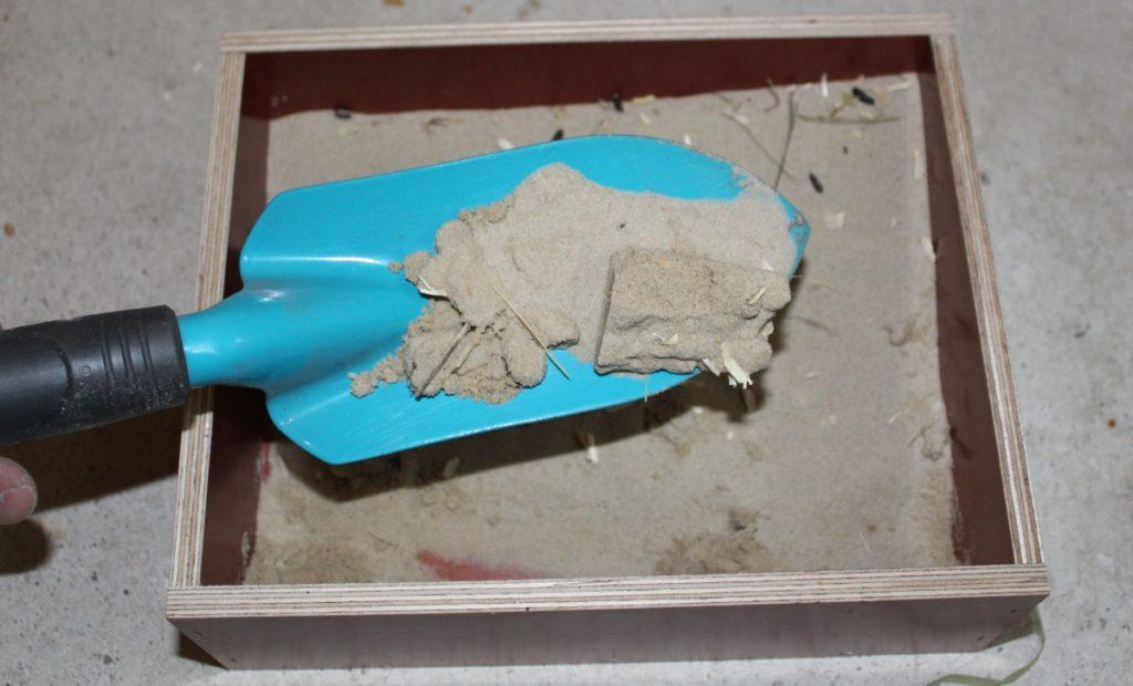 Hamstertoilette reinigen
